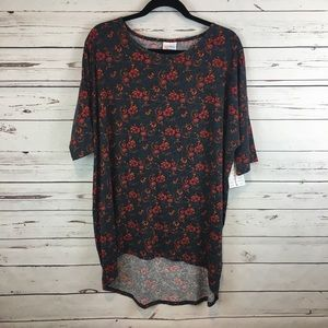 NWT! Blue Orange Red and Teal Irma Top